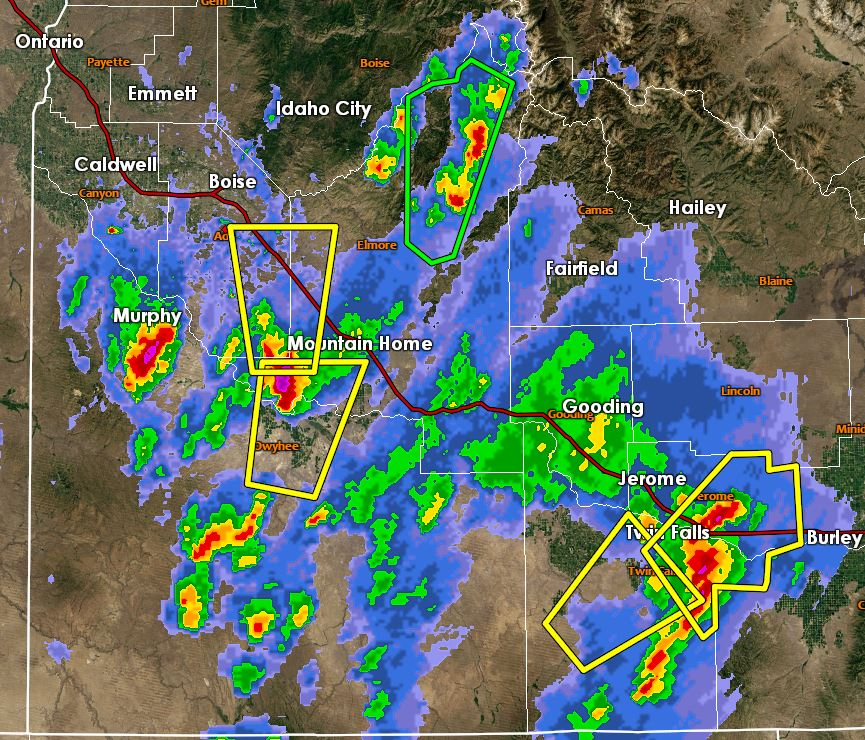 Radar Imagery around 4:05pm MDT