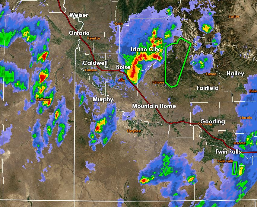 Radar Imagery around 5:30pm MDT