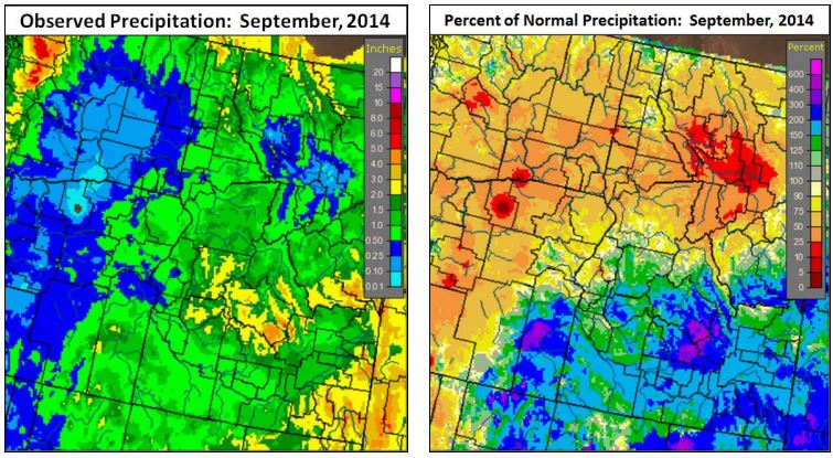 September 2014 Precipitation