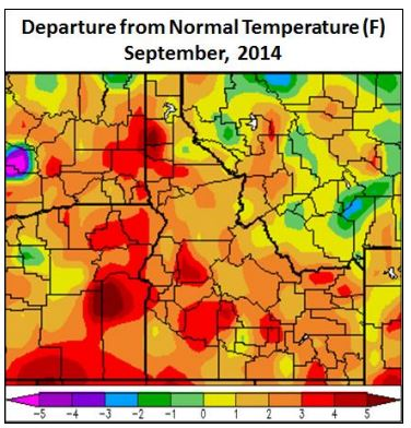 September 2014 Temperature Anomalies