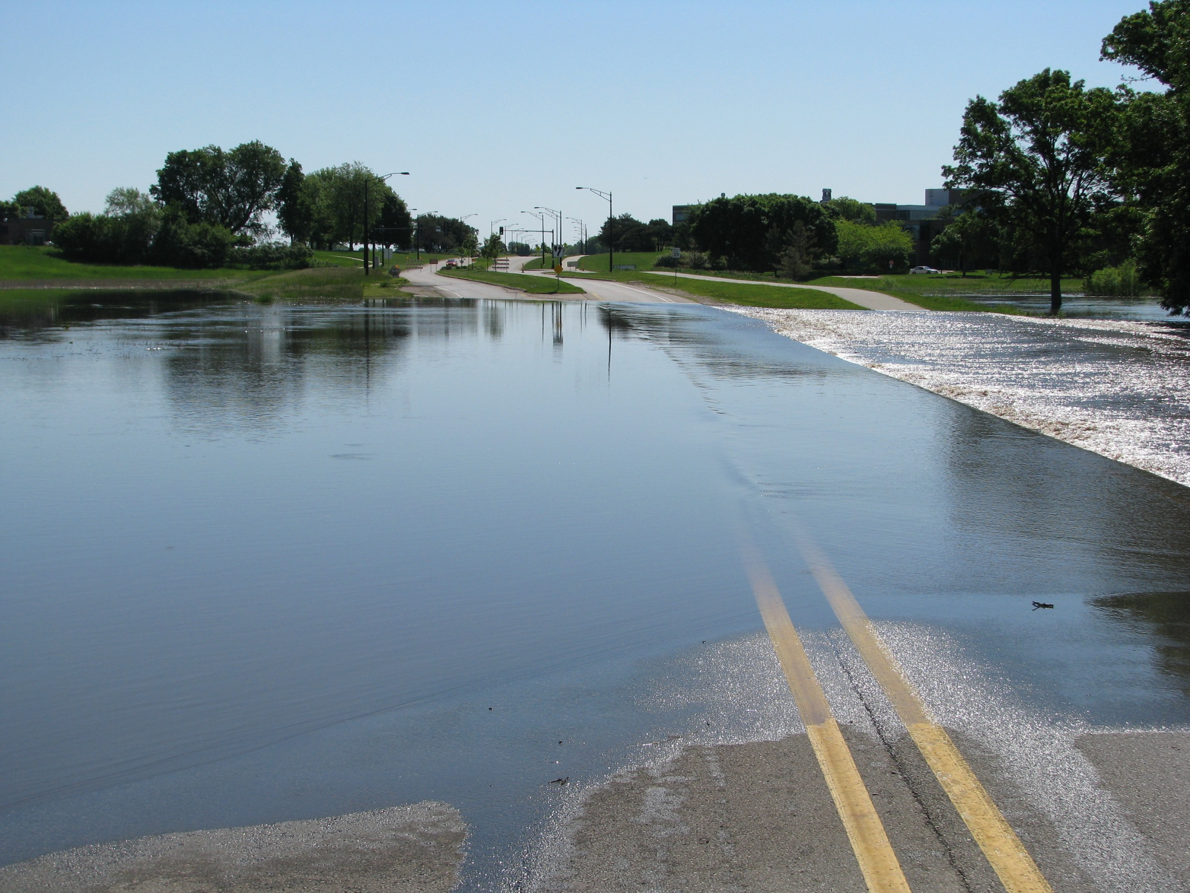 Beaver Creek on NW 62nd Avenue in Johnston, IA. Photo taken approximately 10:30 a.m. on June 1, 2008.  Photo by Anne Taylor