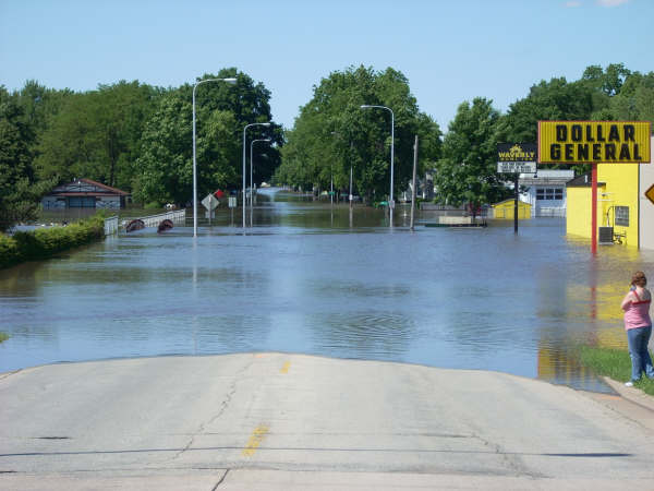 Waverly, Iowa in mid-June 2008. Photo courtesy Reynolds Cramer.