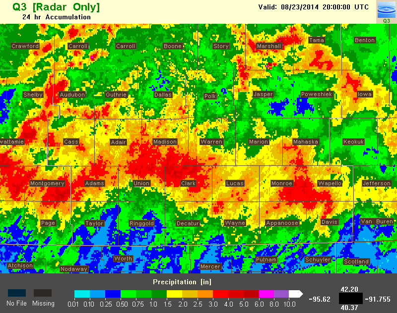 Q3 radar estimated precipitation.
