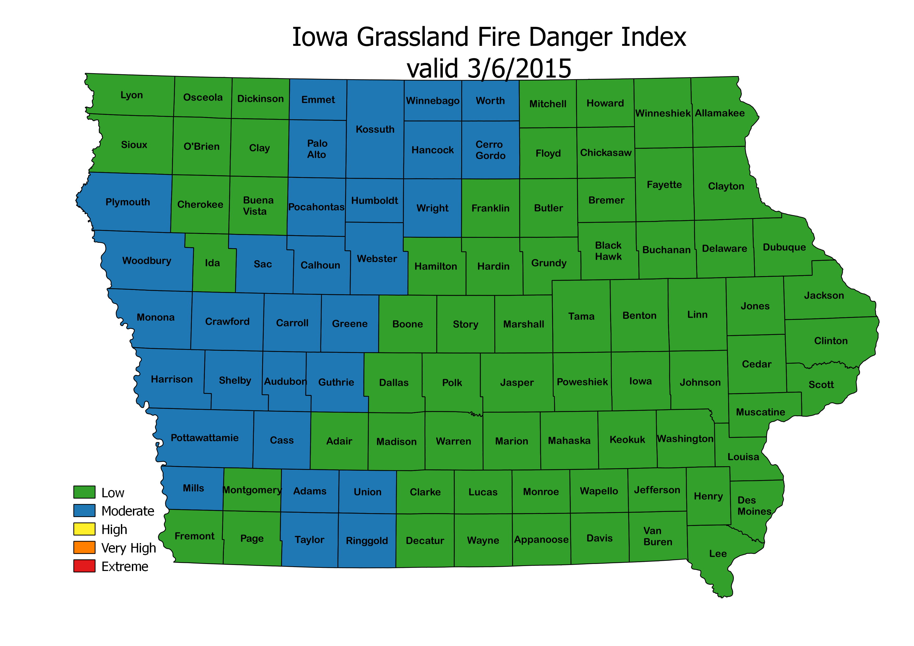 Spring Newsletter The Weather Whisper - Iowa map of us