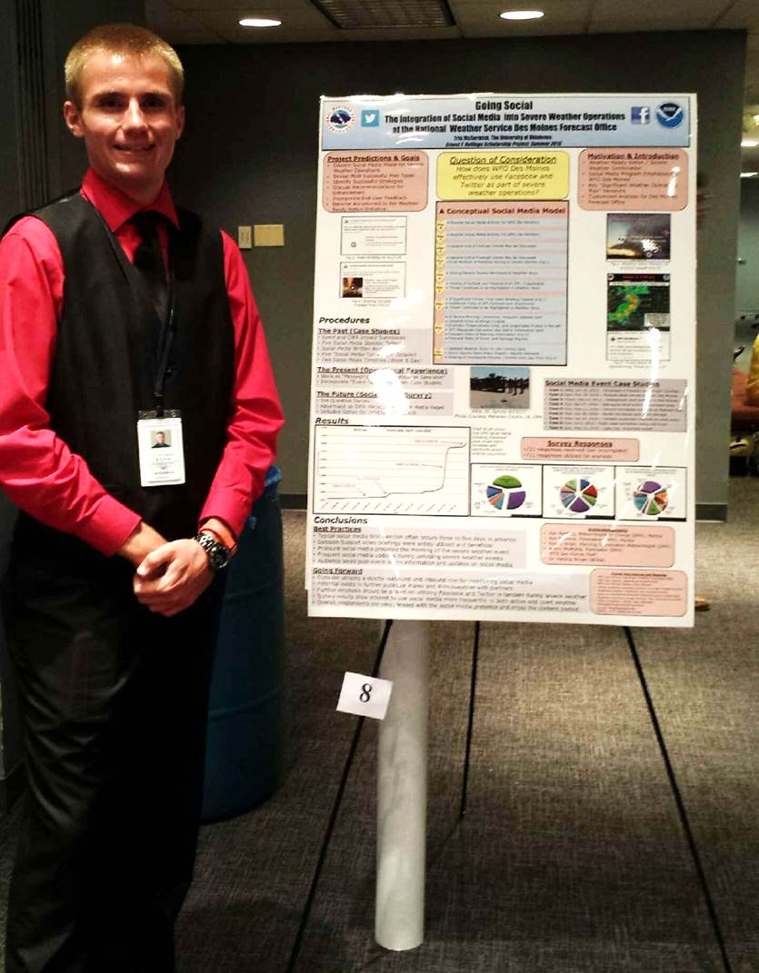 Eric McCormick presents his poster in Silver Spring, MD