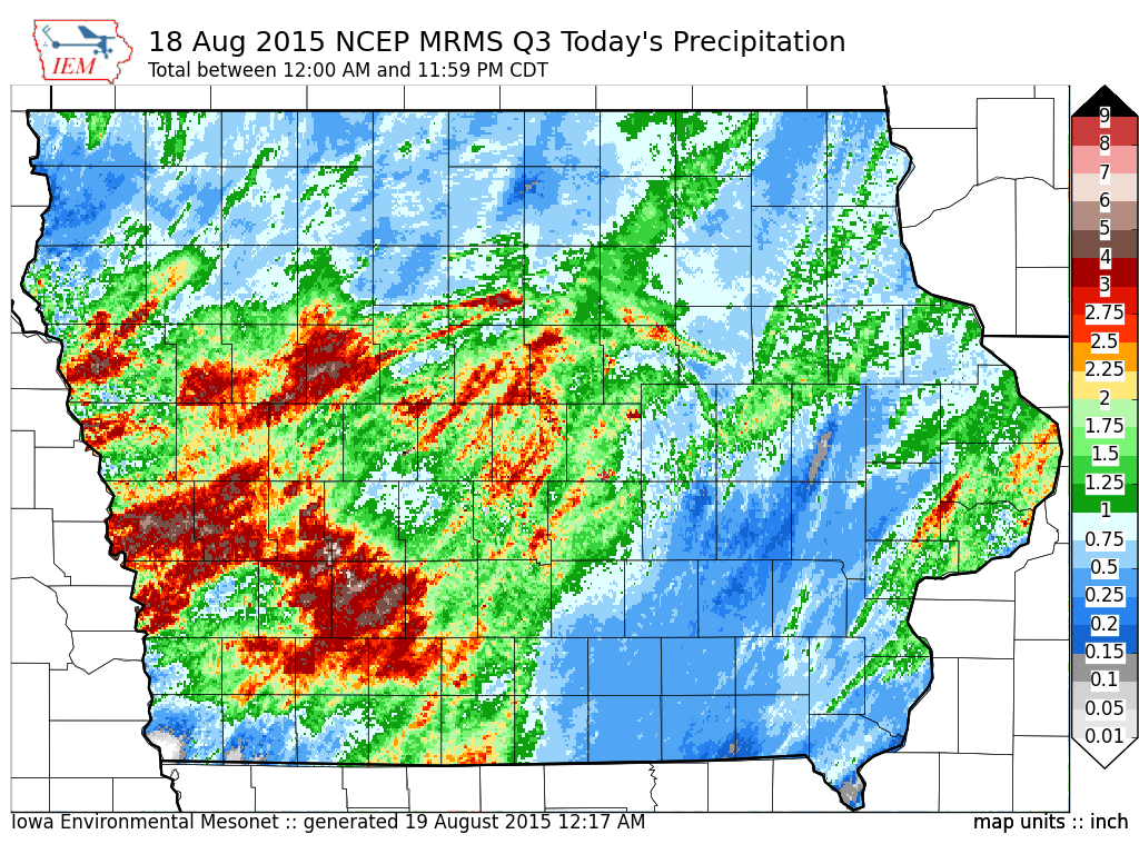 August 2015 Iowa Monthly Climate Review The Weather Whisper