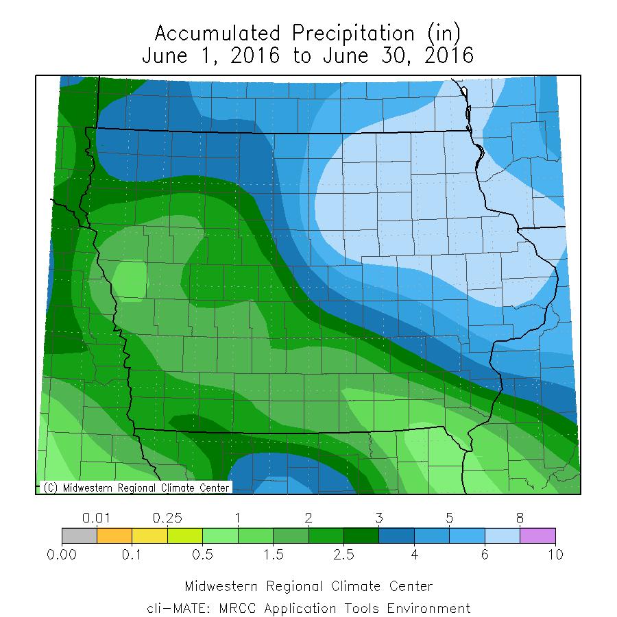 Figure 5: June 2016 Total Precipitation