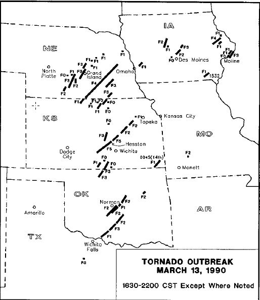 March 13, 1990 Tornado Outbreak.