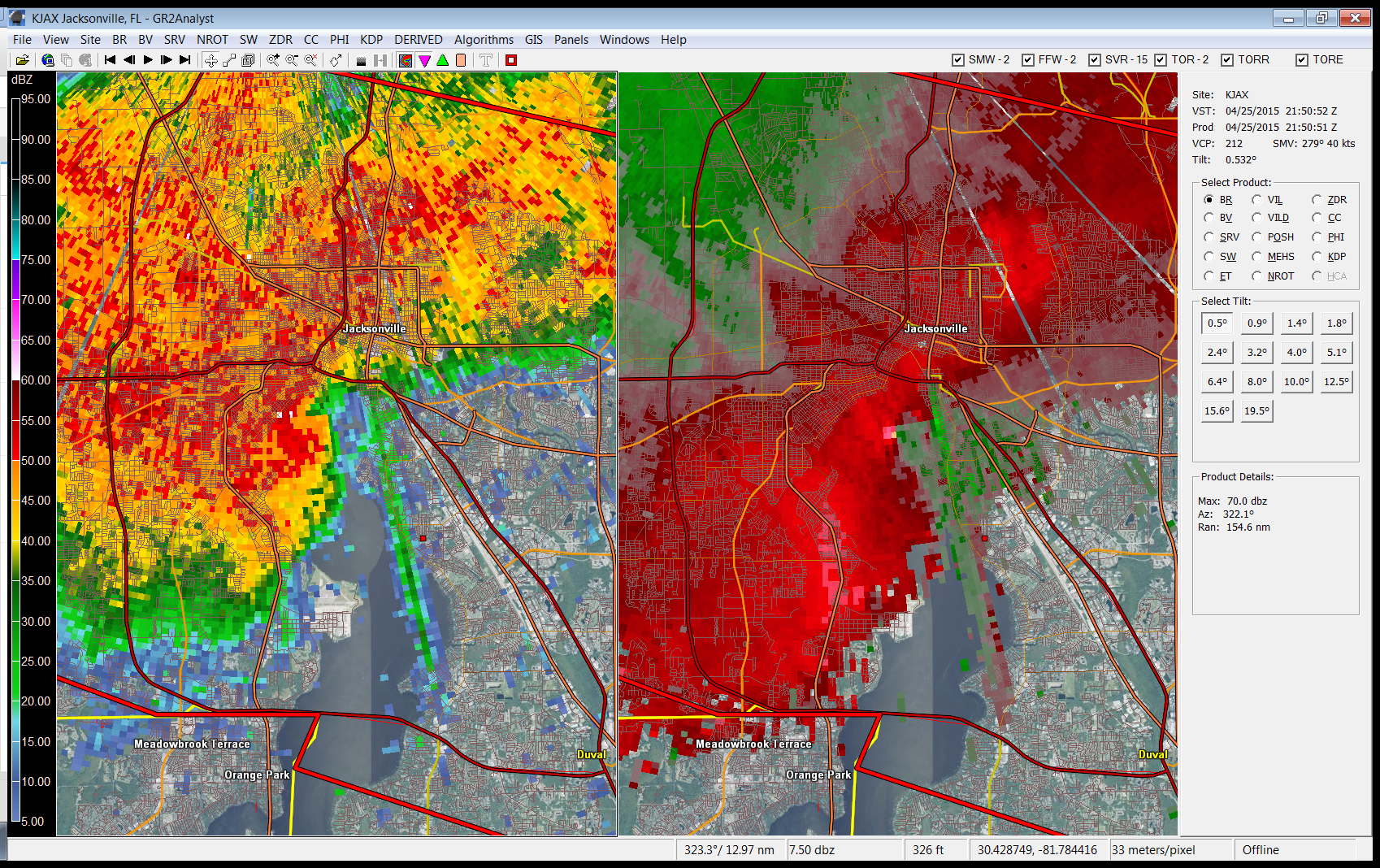 Storm Survey For Southside Jacksonville Duval County Ef