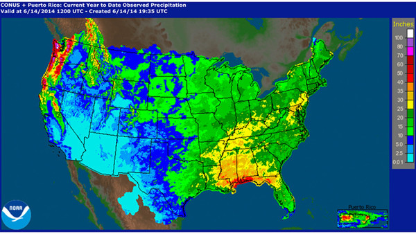 SW US Drought NWS Pendleton Blog - Us precip map